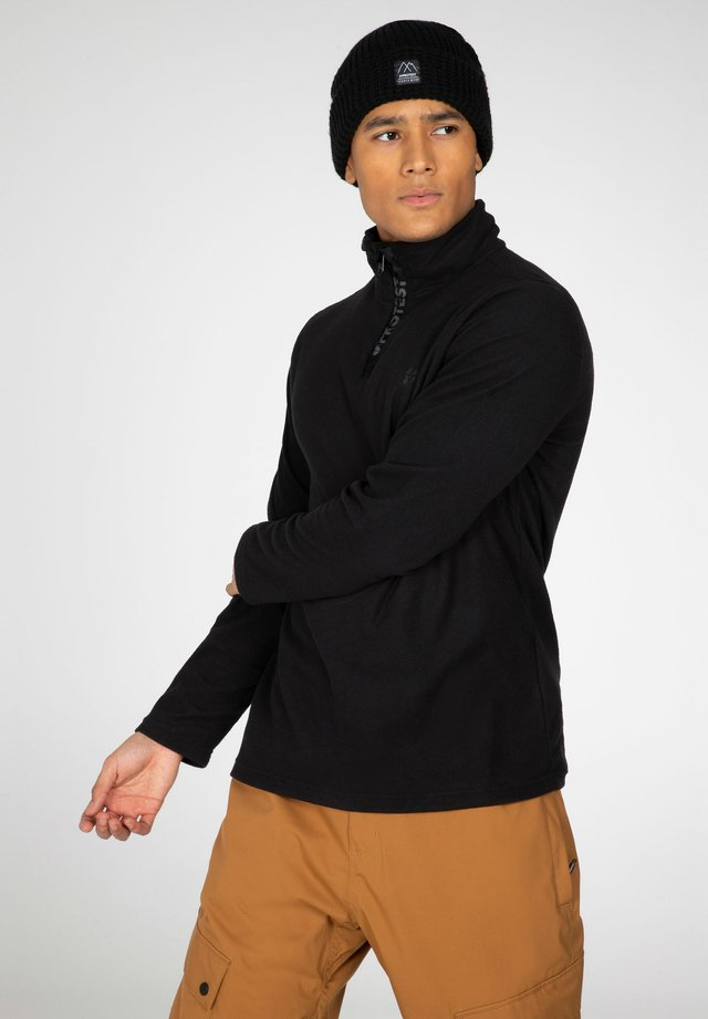 PERFECTO  - Fleece jumper - true black