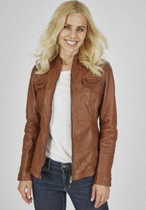 MIT  ZIERNäHTEN FELIDA - Leather jacket - cognac