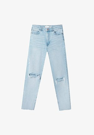 MOM - Jean slim - mottled light blue