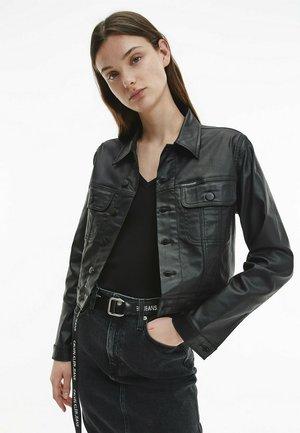 Faux leather jacket - denim black