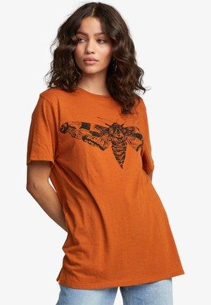 Print T-shirt - dark orange