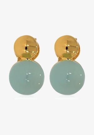 MIT AQUA - Earrings - gold-coloured/light blue