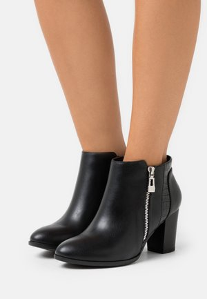 WIDE FIT WATERFALL - Ankle boot - black