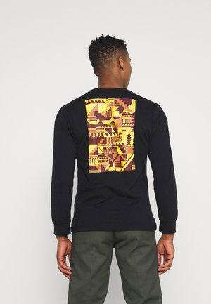 SNAFU LONGSLEEVE UNISEX - Camiseta de manga larga - black/gold
