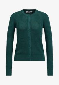 WE Fashion - MET STRUCTUUR - Cardigan - dark green - 5