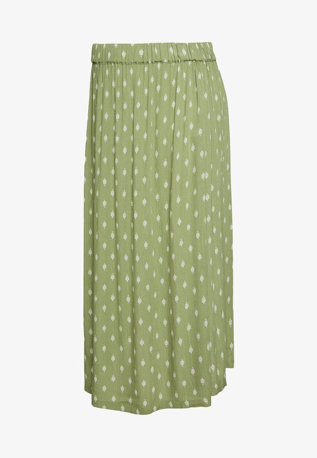 MLCEMILLE WOVEN MIDI SKIRT - A-snit nederdel/ A-formede nederdele - olive