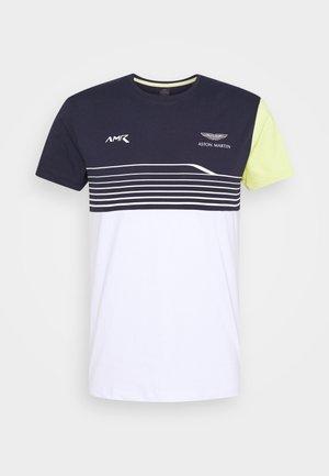 STRIPE TEE - Print T-shirt - navy/white
