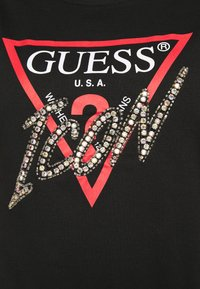 Guess - ICON TEE - T-shirt con stampa - jet black - 5