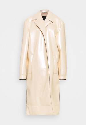 METALLIC COAT - Classic coat - beige