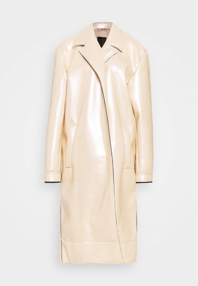 METALLIC COAT - Mantel - beige