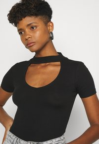 Even&Odd - Basic T-shirt - black - 3