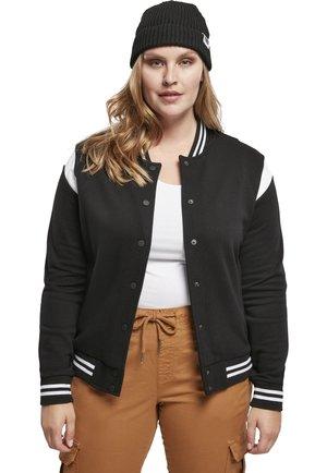 Zip-up sweatshirt - black/white