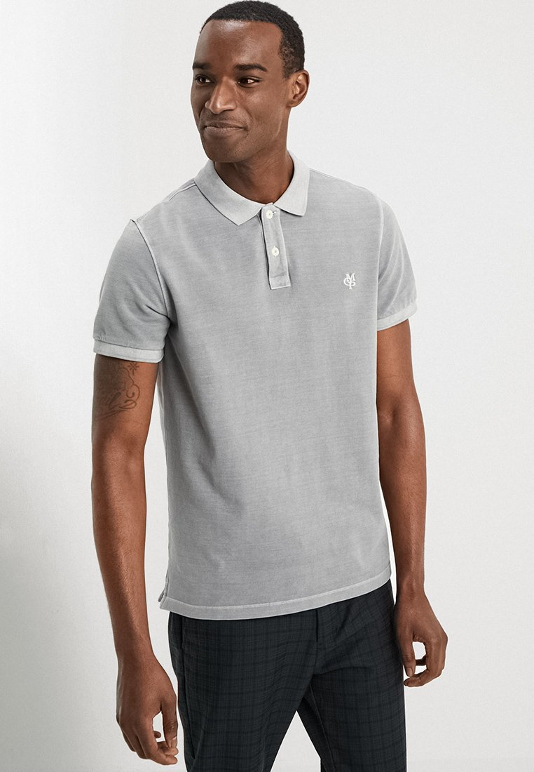 Marc O'Polo - SHORT SLEEVE BUTTON PLACKET - Polo - light grey
