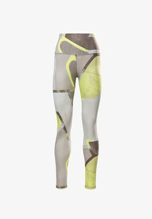 LUX BOLD HIGH-RISE LEGGINGS - Collants - yellow