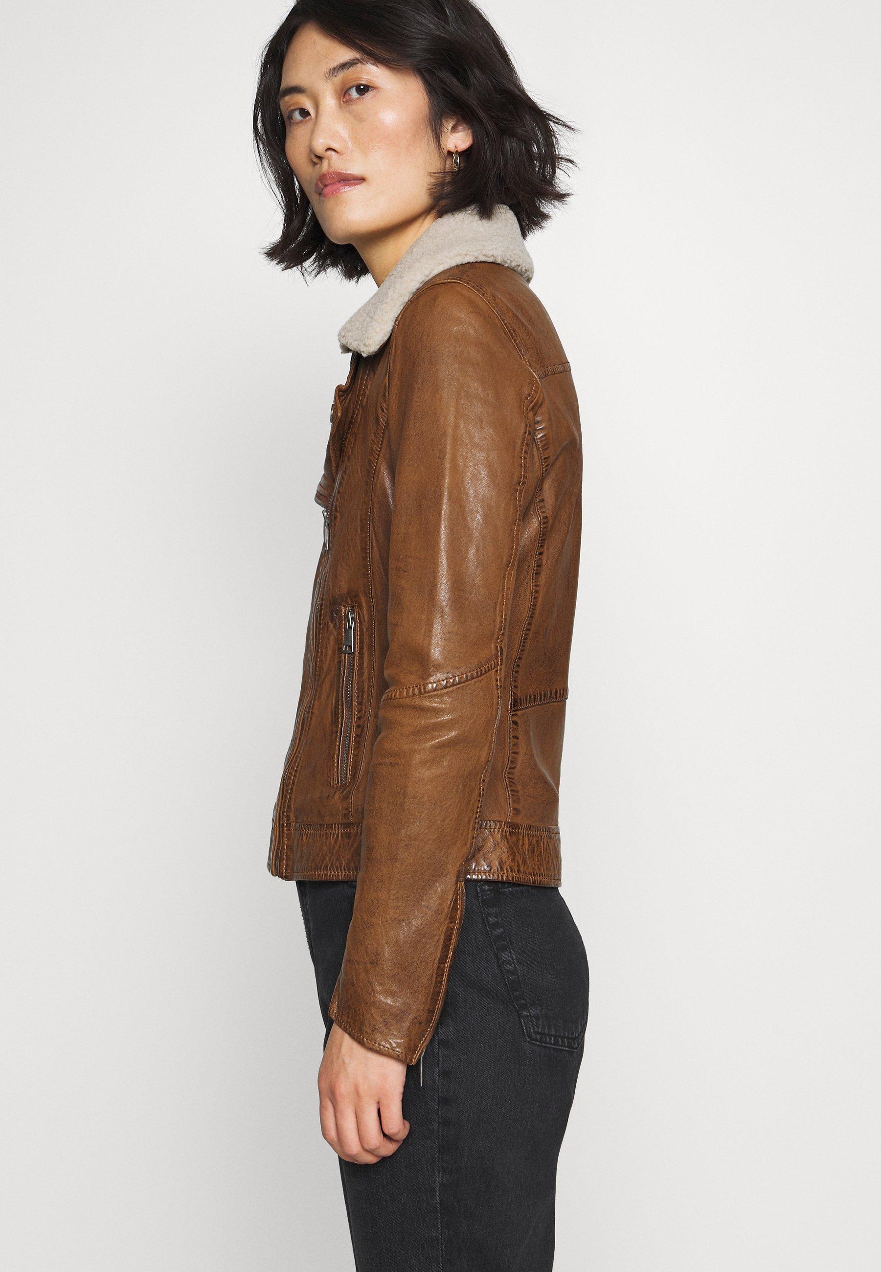 For Sale Women's Clothing Oakwood FOLLOWER Leather jacket tan QvvFM2qE6