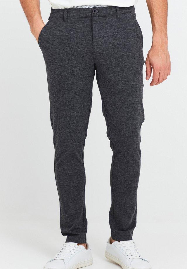 OLIVERO - Trousers - dark grey melange