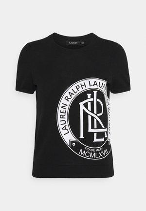 KONSUELO SHORT SLEEVE - Print T-shirt - black/white