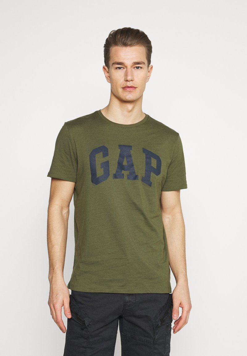 GAP - BASIC LOGO - Print T-shirt - army green