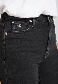 Calvin Klein Jeans - HIGH RISE - Skinny džíny - ca043 black - 3