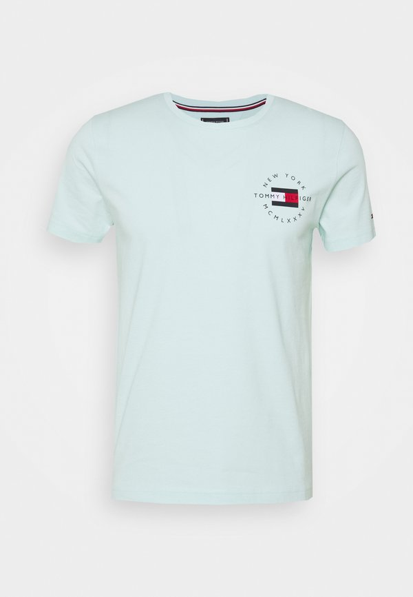 Tommy Hilfiger CIRCLE CHEST TEE - T-shirt z nadrukiem - oxygen/miętowy Odzież Męska WSWN