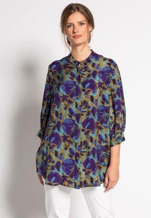 Button-down blouse - bronze