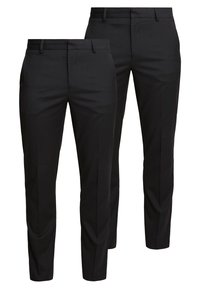 Burton Menswear London - 2 PACK - Pantalon de costume - black - 0