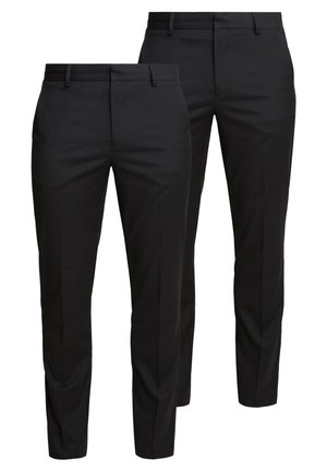 2 PACK - Suit trousers - black
