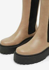 Bianco - BIADEB  - Platform boots - lightbrown6 - 5