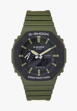 LAYERED BEZEL - Chronograph watch - green