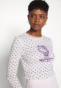 NEW girl ORDER - POINTELLE - Long sleeved top - purple/cream - 3