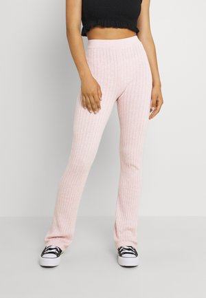 VEGETABLE DYE FLARE PANT - Tracksuit bottoms - mulberry pink marle