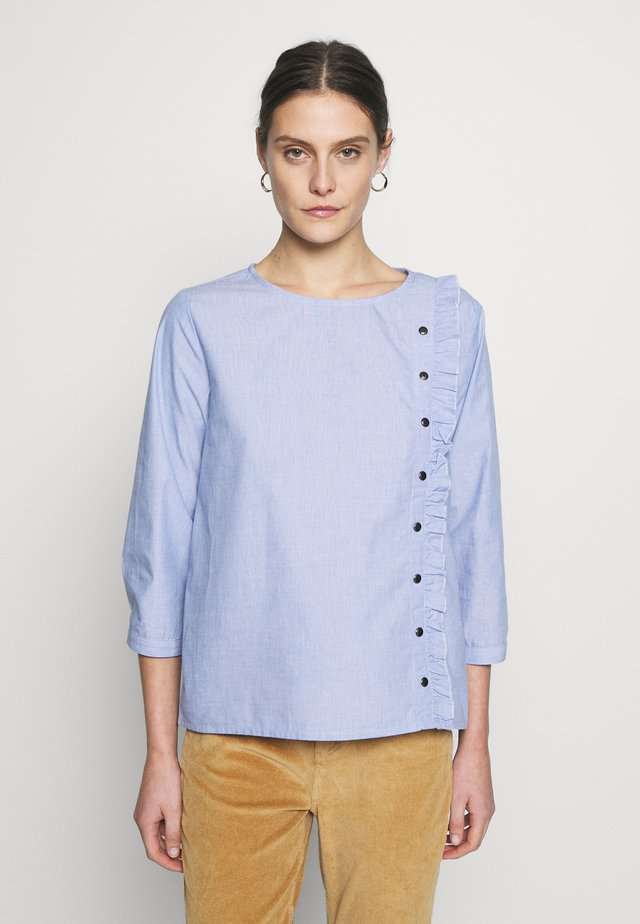HABLUES BLOUSE - Bluser - brunnera blue