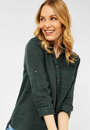 MIT 3/4 ÄRMEL - Button-down blouse - grün