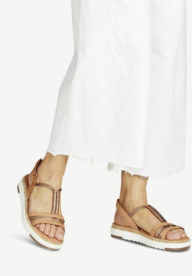 Tamaris - Platform sandals - nut/bronce