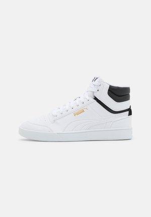 SHUFFLE MID UNISEX - Höga sneakers - white/black/team gold