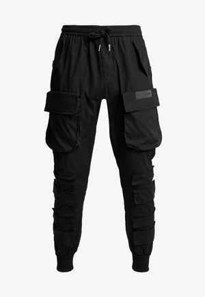 PANTS WITH MULTIPLE POCKETS - Cargobyxor - black