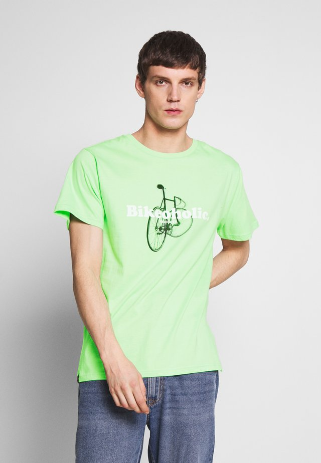 STOCKHOLM BIKEOHOLIC - Print T-shirt - mint