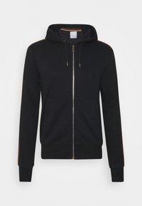 GENTS ZIP THROUGH TAPED SEAMS HOODY - Zip-up hoodie - black