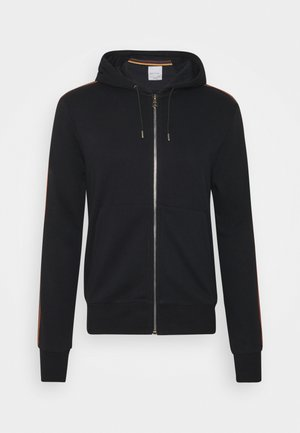 GENTS ZIP THROUGH TAPED SEAMS HOODY - Sudadera con cremallera - black