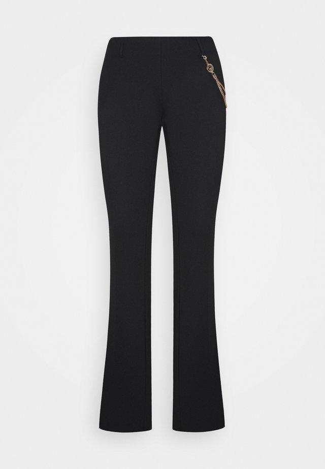 PANTALONE BOOTCUT - Kalhoty - black