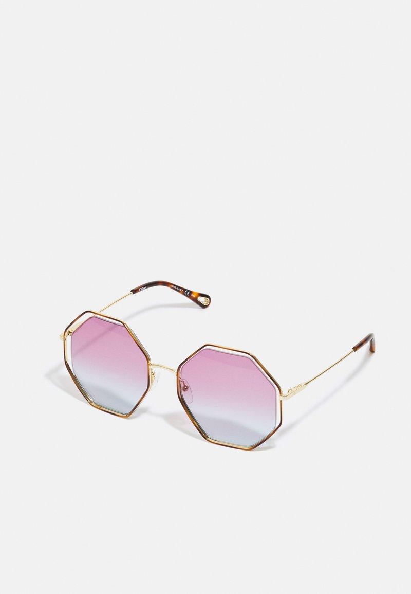 Chloé - Occhiali da sole - havana/gold-coloured/violet