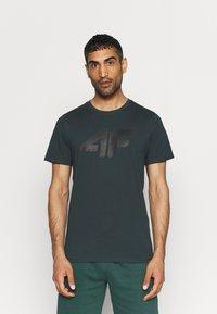 4F - T-shirt print - dark green - 0