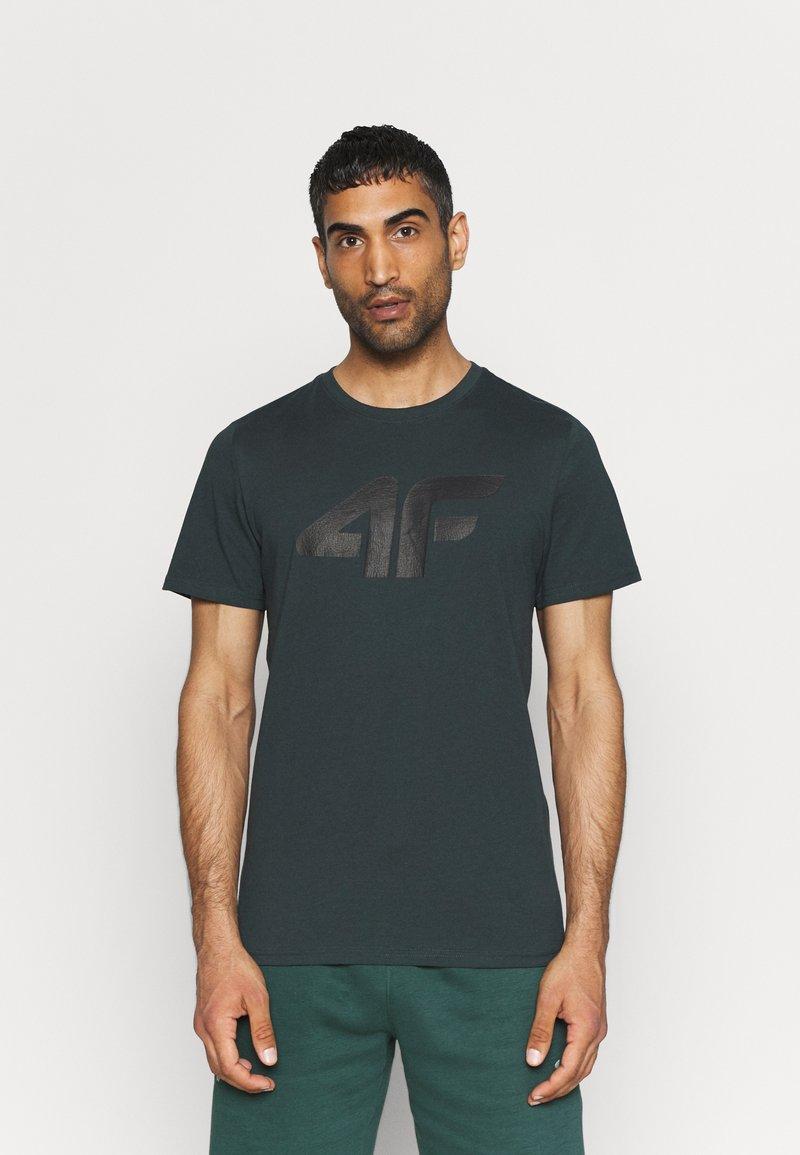 4F - T-shirt print - dark green