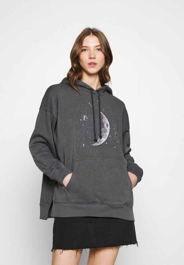 HOODIE SOLID - Mikina - washed black