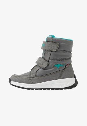 K-FLOSSY RTX - Zimní obuv - steel grey/turquoise