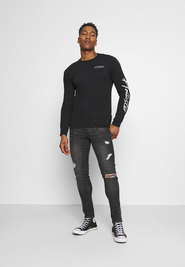 Hollister Co. TECH LOGO - Bluzka z długim rękawem - black/czarny Odzież Męska GDGH