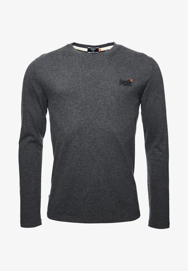 OL VINTAGE EMB LS - Long sleeved top - dark marl