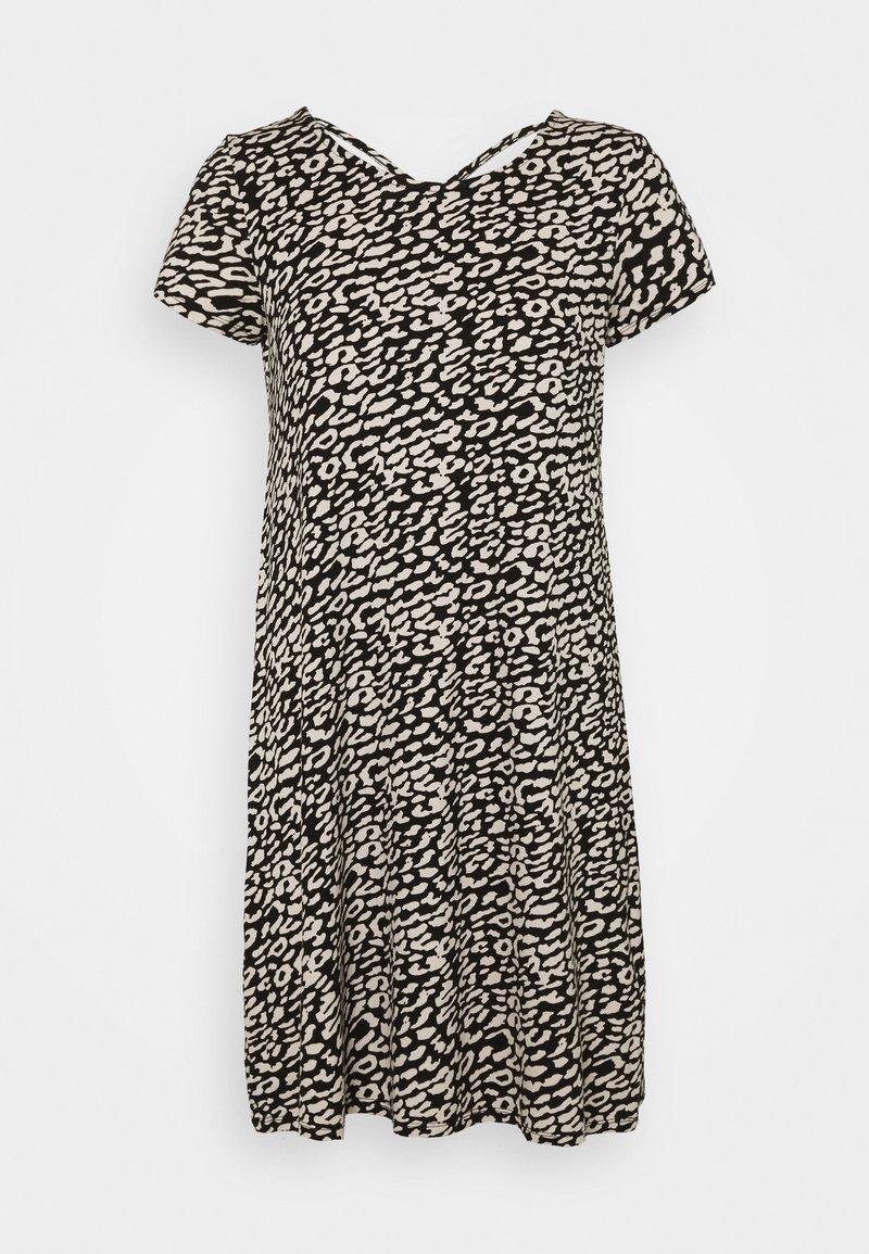ONLY - ONLBERA BACK DRESS - Jersey dress - black/eggnog