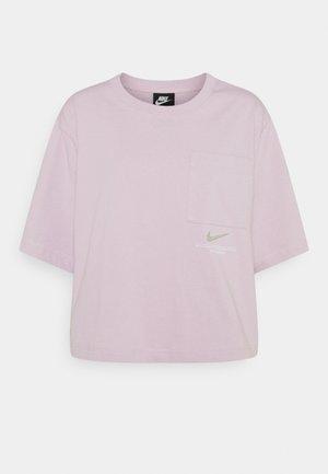 Print T-shirt - iced lilac/white