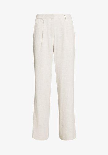 LOOSE PANTS - Trousers - beige